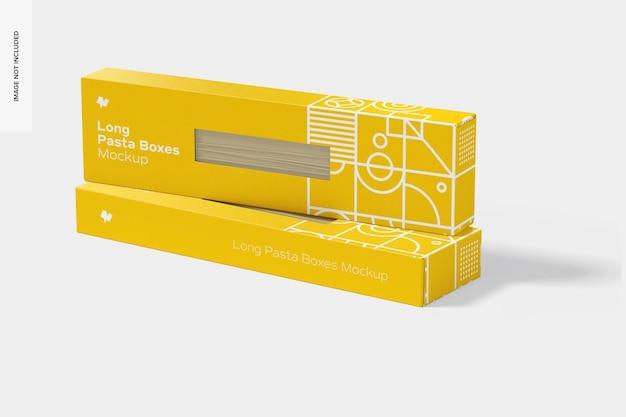 Maquete de caixas de massa longa