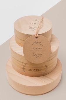 Maquete de caixas de papelão empilhado ecologicamente corretas Psd grátis