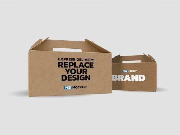 Maquete de caixas de papelão