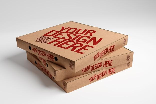 Maquete de caixas de pizza