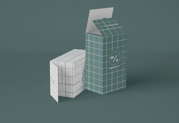 Maquete de caixas retangulares