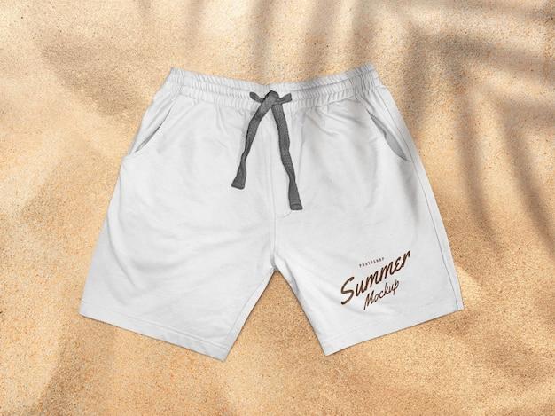 Maquete de calça de short branco