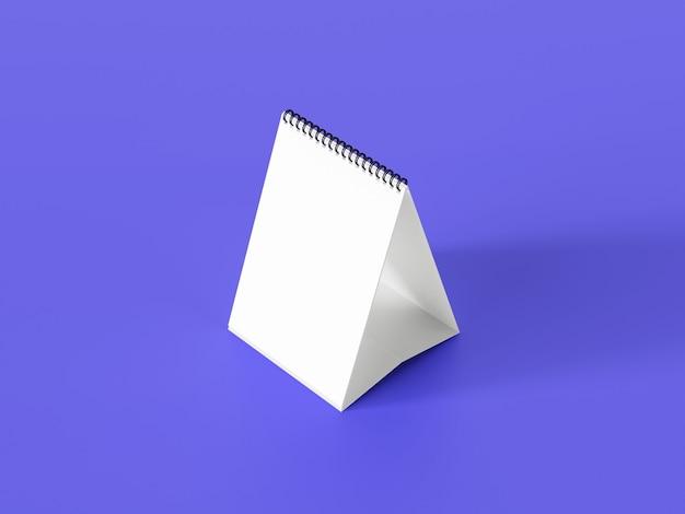 Maquete de calendário de mesa branca