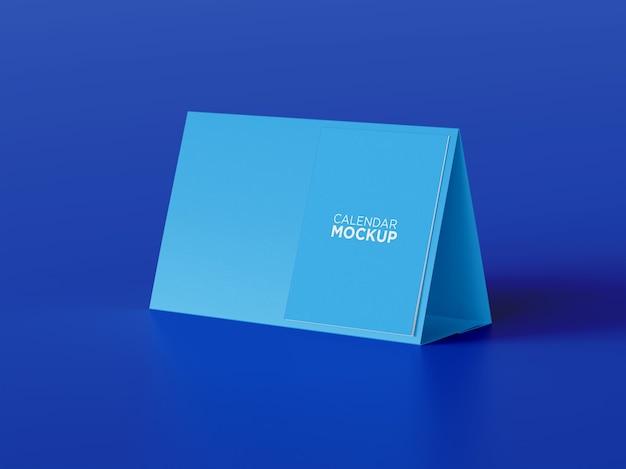 Maquete de calendário de mesa de alta qualidade com vista lateral