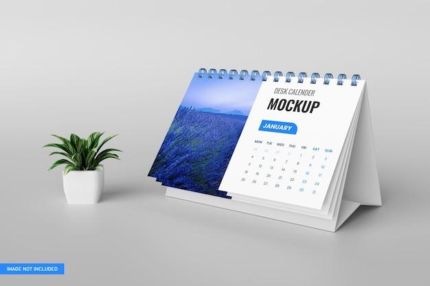 Maquete de calendário de mesa em renderização 3d