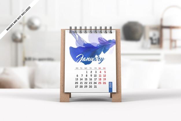 Maquete de calendário de mesa mini