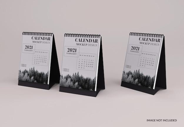 Maquete de calendário de mesa moderna