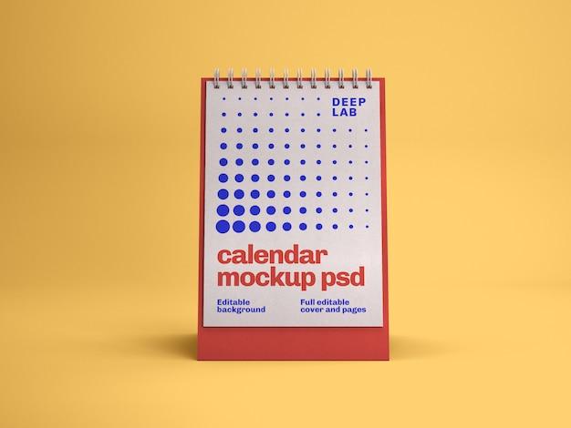 Maquete de calendário de mesa vertical