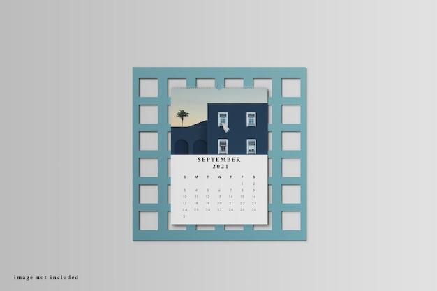 Maquete de calendário de mesa