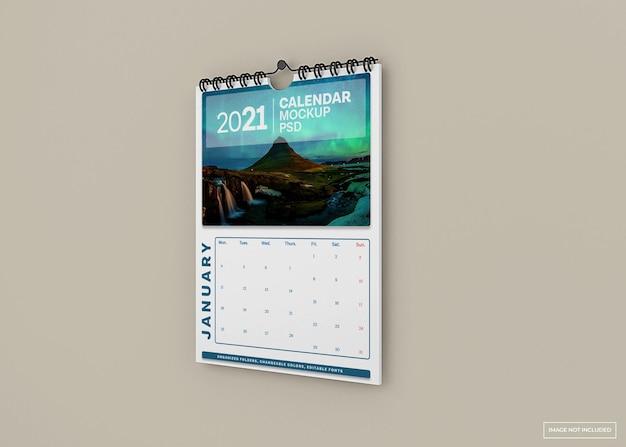 Maquete de calendário de parede isolada
