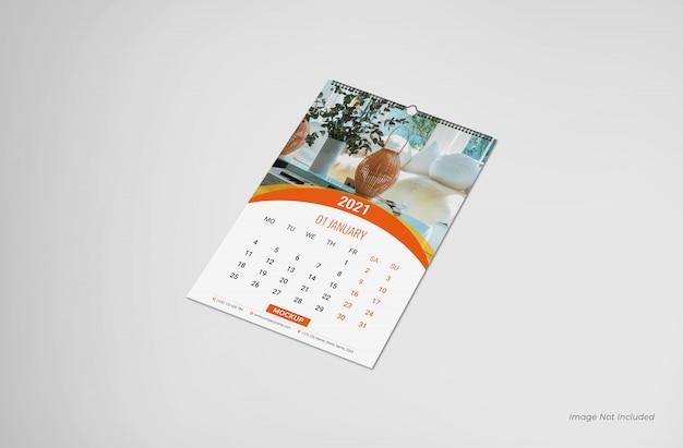 Maquete de calendário de parede, maquete de calendário