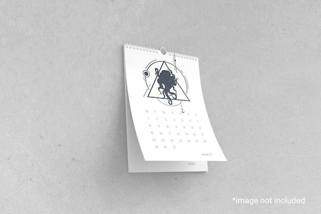 Maquete de calendário de parede