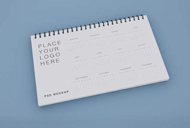 Maquete de calendário espiral