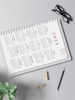 Maquete de calendário mais recente