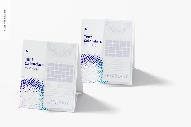Maquete de calendários de tenda
