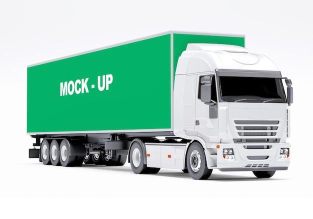 Maquete de caminhão de caminhão
