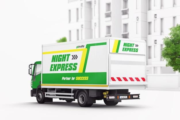 Maquete de caminhão de entrega urbana