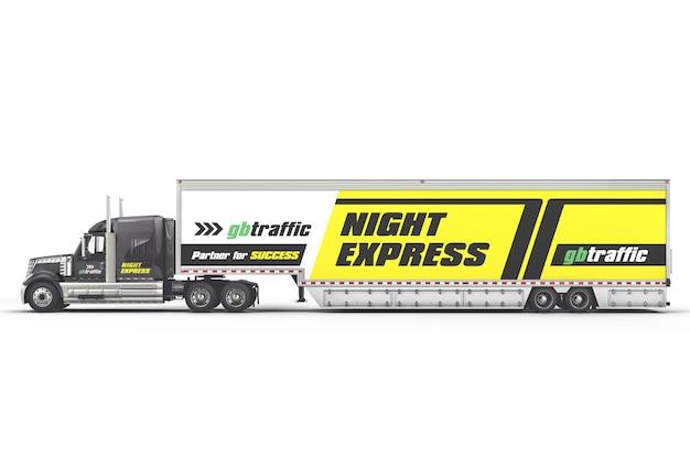 Maquete de caminhão de reboque