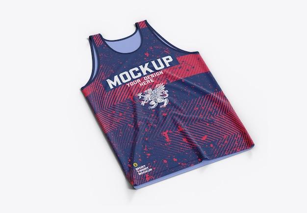 Maquete de camisa de basquete