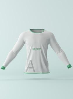 Maquete de camisa de manga comprida