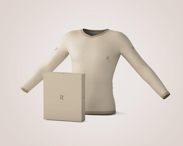 Maquete de camisa e caixa