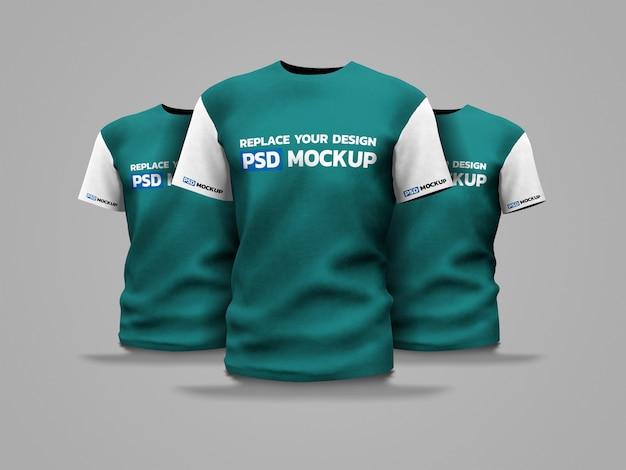 Maquete de camisa esporte renderização em 3d