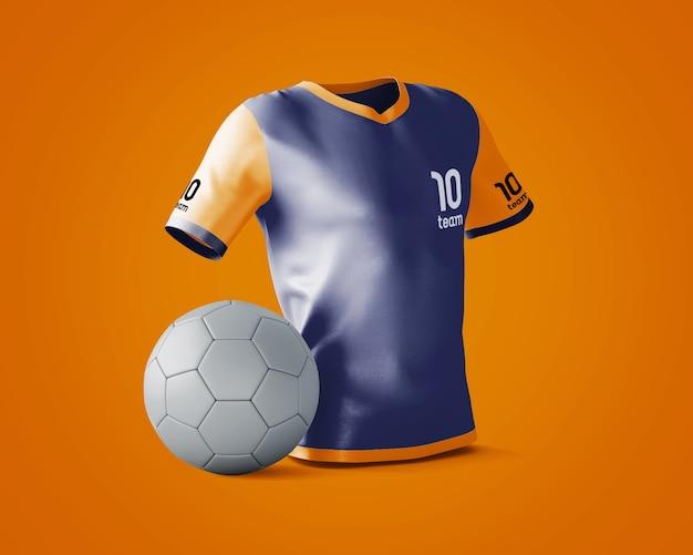 Maquete de camisa esportiva com logotipo da marca