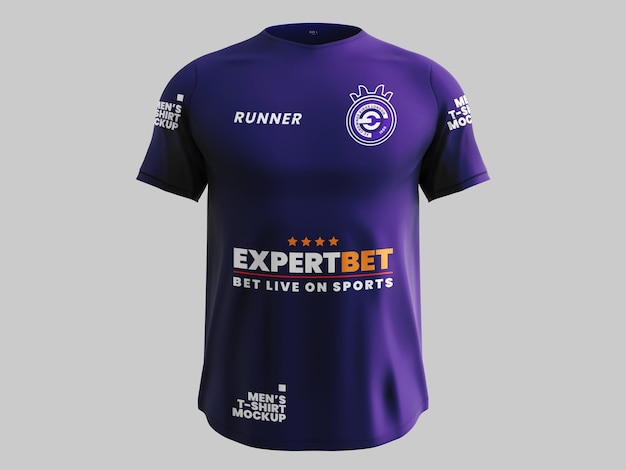 Maquete de camisa esportiva