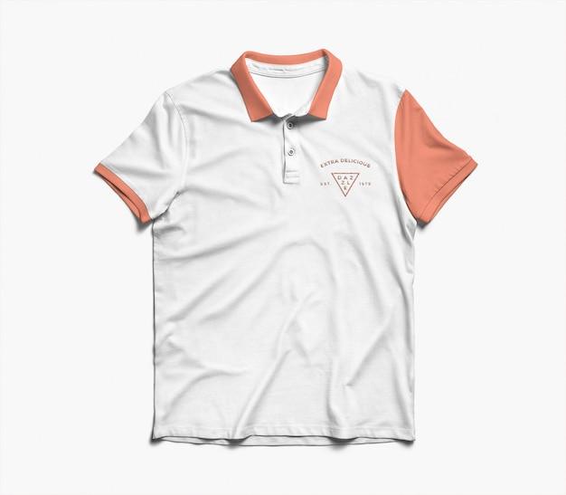 Maquete de camisa pólo