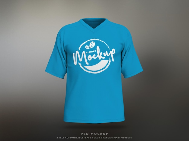 Maquete de camiseta com impressão de tela maquete em malha de camiseta renderizada em 3d