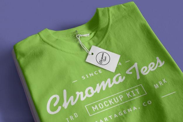 Maquete de camiseta de cromados