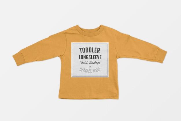 Maquete de camiseta de manga longa de criança