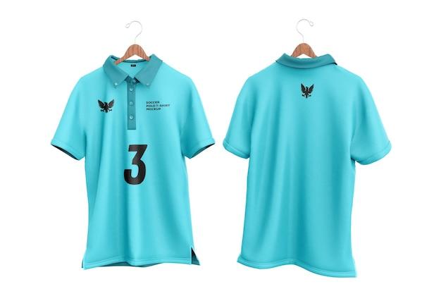 Maquete de camiseta de polo de futebol