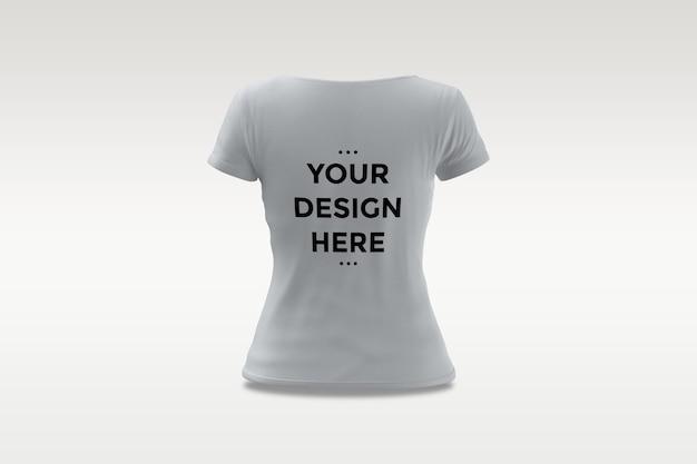 Maquete de camiseta feminina isolada