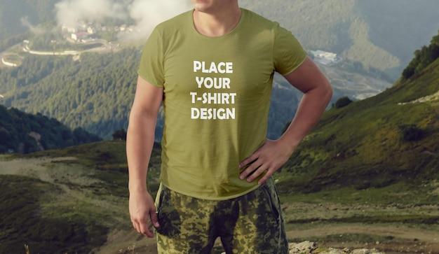 Maquete de camiseta masculina