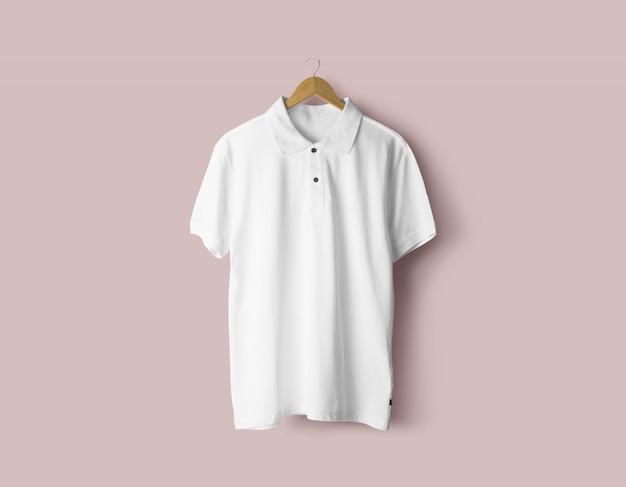 Maquete de camiseta polo masculina