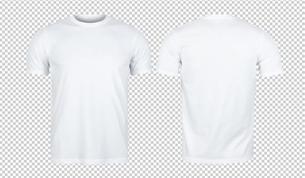 Maquete de camisetas brancas na frente e atrás