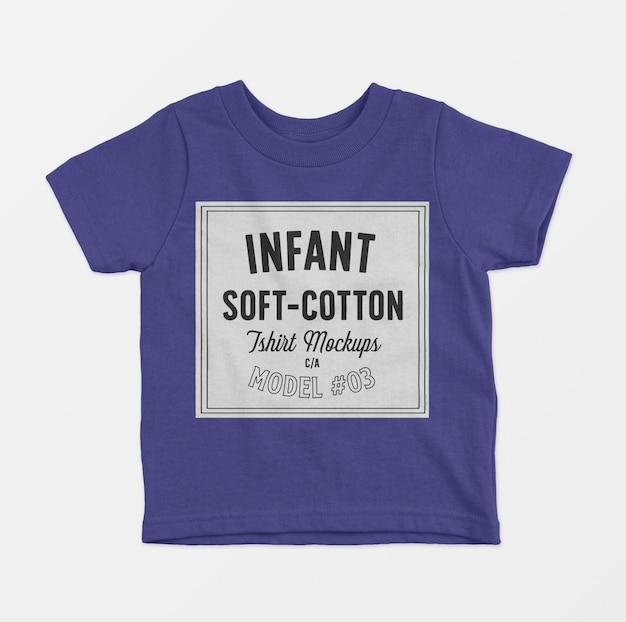 Maquete de camisetas de algodão macio infantil 03