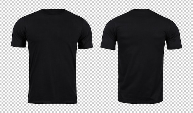 Maquete de camisetas pretas na frente e atrás