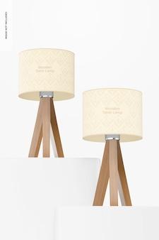 Maquete de candeeiros de mesa de madeira