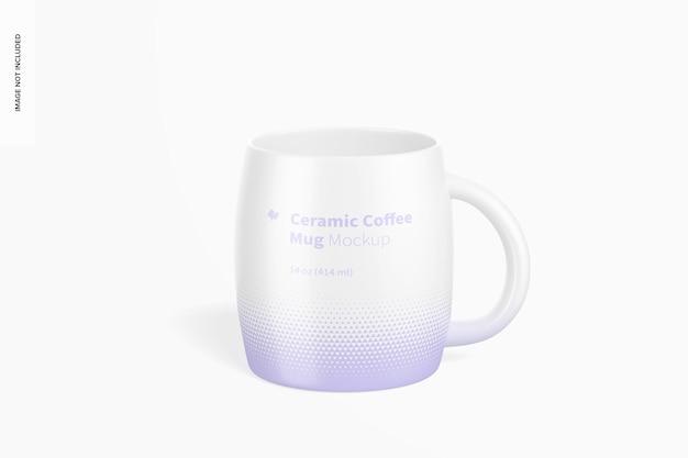Maquete de caneca de café de cerâmica de 14 onças