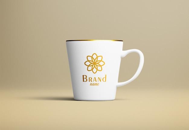 Maquete de caneca de café moderna