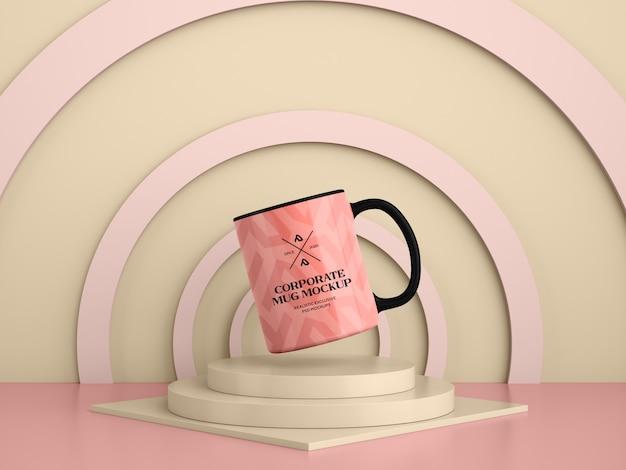 Maquete de caneca de café moderno