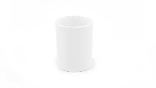 Maquete de caneca de cerâmica branca isolada