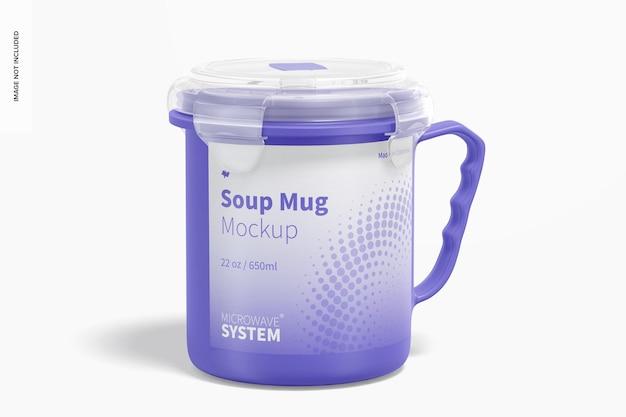 Maquete de caneca de sopa de 22 onças