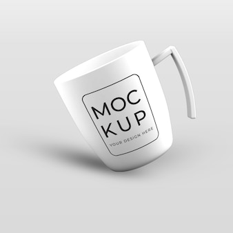 Maquete de caneca de xícara de café branco
