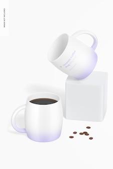 Maquete de canecas de café de cerâmica de 14 onças