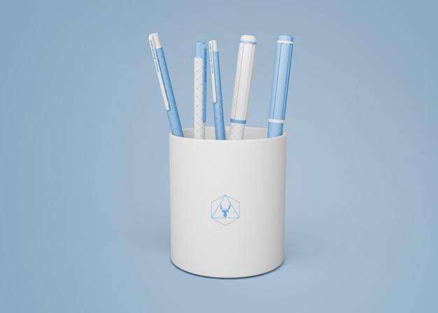 Maquete de caneta para merchandising