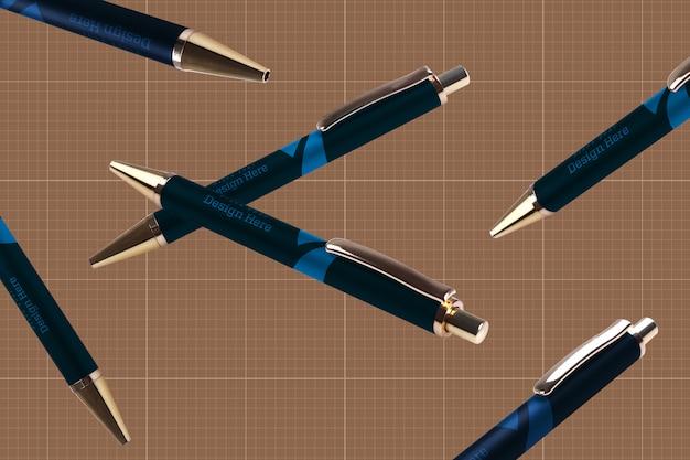 Maquete de canetas