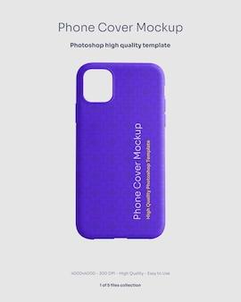 Maquete de capa de borracha para telefone